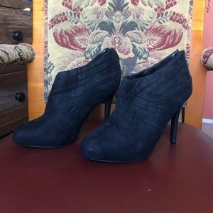 Suede Wrap Ankle Booties